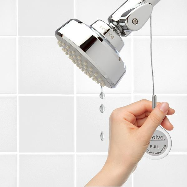 evolve water saving showerhead